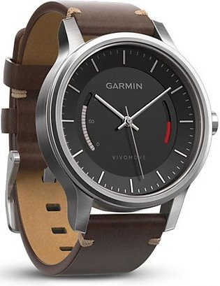 Garmin Vivomove Classic Activity Tracking Watch Stainless Steel with Leather ...