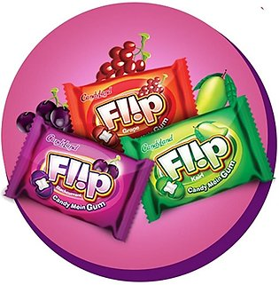 CandyLand Flip Candy Filled with Gum - 70 Piece