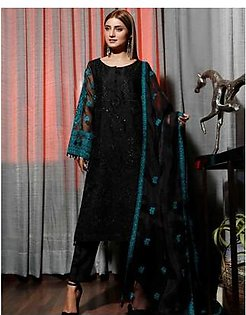 Charizma Chimmer Vol-05 Embroidered Bamber Chiffon Collection 3 Piece (CM-033)