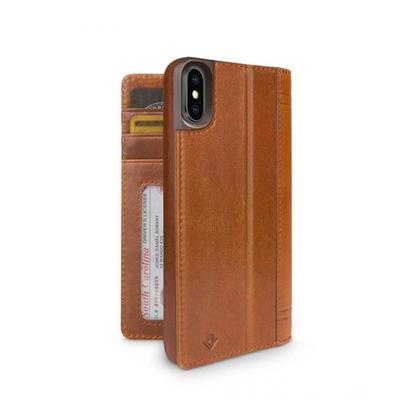 Twelve South Journal Leather Wallet Cognac Case For iPhone X/XS