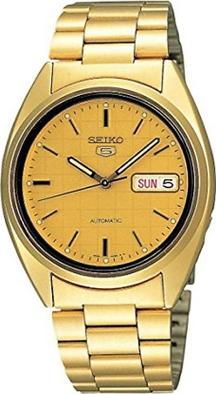 Seiko 5 Men's Watch Gold (SNXL72)