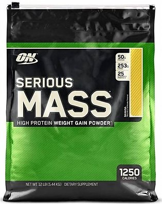 ON Optimum Nutrition Serious Mass Weight Gain Protein Powder Banana 5.44kg