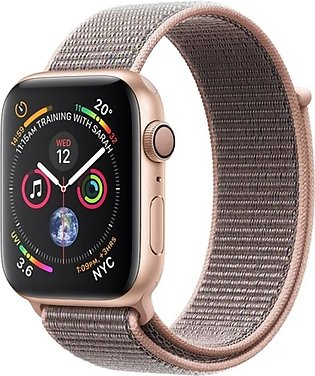 Apple iWatch Series 4 44mm Gold Aluminum Case With Pink Sand Sport Loop - GPS...