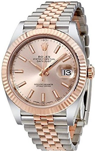 Rolex Datejust 41 Men's Watch Rose Gold (126331SNSJ)