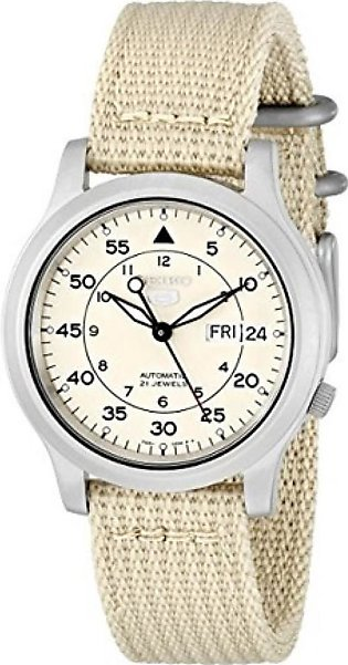 Seiko 5 Men's Watch Beige (SNK803)