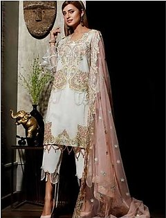 Charizma Chimmer Vol-05 Embroidered Bamber Chiffon Collection 3 Piece (CM-034)