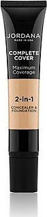 Jordana Complete Cover 2 In 1 Concealer & Foundation - Golden Beige (03)
