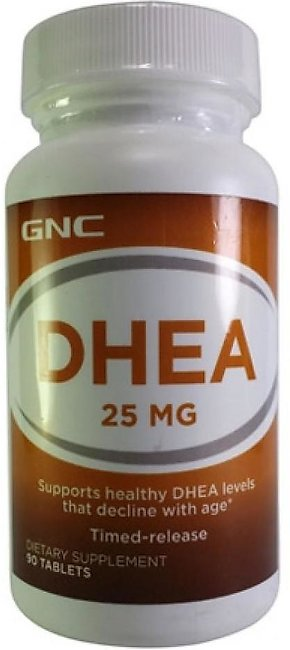 GNC DHEA 25 MG Dietary Supplement (90 Tablets)