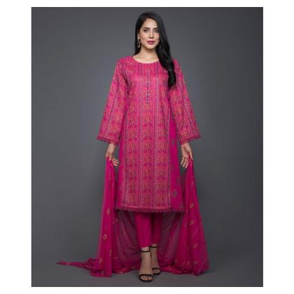 Bareeze Swiss Lawn Ethnic Vogue 3 Piece (CH3006-PINK)
