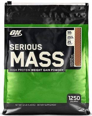 ON Optimum Nutrition Serious Mass Weight Gain Protein Powder Chocolate Peanut...