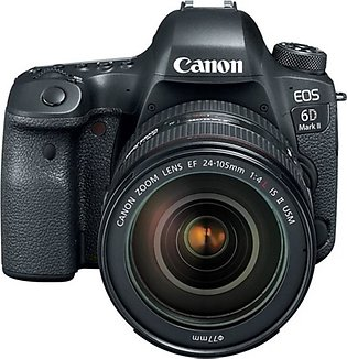 Canon EOS 6D Mark II DSLR Camera with 24-105mm f/4 Lens - MBM Warranty