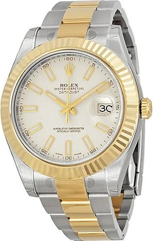 Rolex Datejust II Ivory Men's Watch Two Tone (116333ISO)