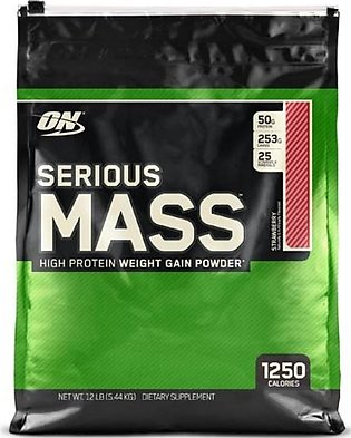 ON Optimum Nutrition Serious Mass Weight Gain Strawberry Protein Powder 5.44kg