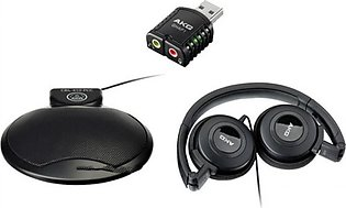 AKG CBL 410 Headphones With Mic & USB Adapter