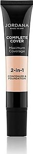 Jordana Complete Cover 2 In 1 Concealer & Foundation - Creamy Natural (05)