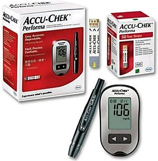 Accu-Chek Gluco Meter Performa With 10 Strips