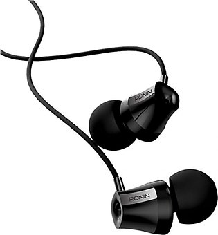 Ronin Pure Bass Master Sound Earphones Black (R-12)