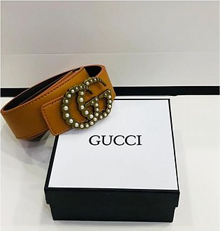 KK Accessories Gucci High Quality Leather Belt For Women Brown