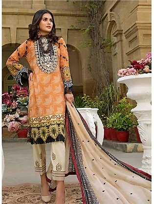 Sifona Marjaan Luxury Embroidered Lawn 2020 3 Piece (MMS-01)