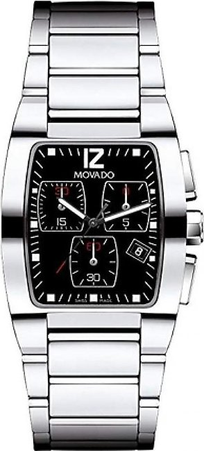 Movado Fiero Stainless Steel Men's Watch Silver (605992)