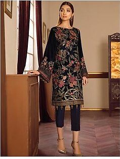 Baroque Melody Velvet Embroidered Collection 3 Piece (03-WARM SHINE)
