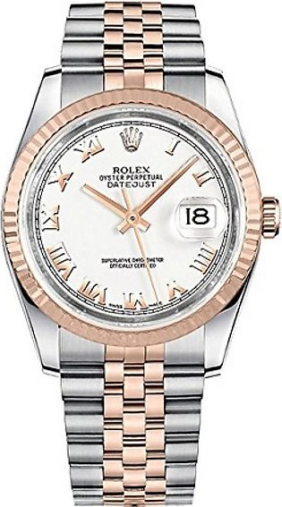 Rolex Datejust 36 Men's Watch Rose Gold (116231-WHTRJ)