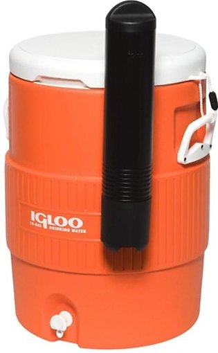 Igloo Seat Top 10 Gallon Water Cooler With Cup Dispenser Orange (42021)
