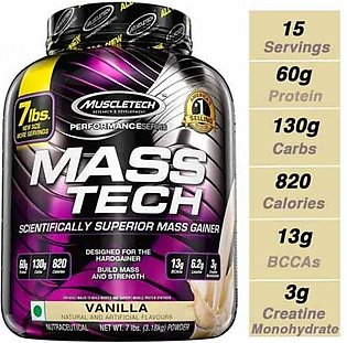 MuscleTech Performance MassTech Mass Gainer Vanilla 3.18 KG