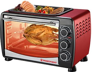 Westpoint Oven Toaster With Hot Plate 24Ltr (WF-2400-RD)