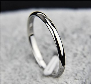 Shoppingmania Silver Plated Platinum Ring For Women