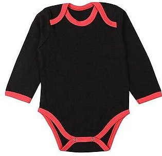 Wokstore Garments Romper For New Born Baby Black/Red