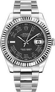 Rolex Oyster Perpetual DateJust Men's Watch Silver (116334-BKRIO)