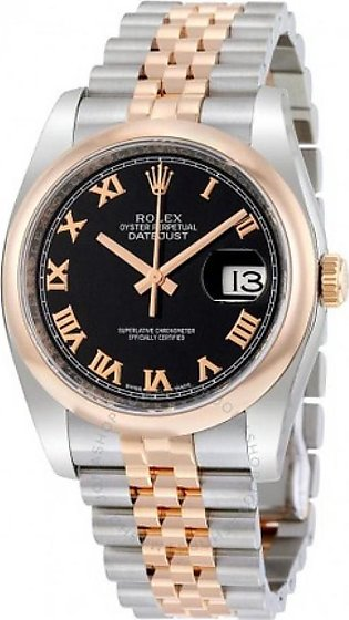 Rolex Datejust 36 Men's Watch Rose Gold (116201BKRJ)