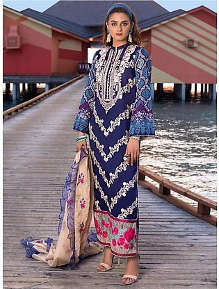 Zainab Chottani Luxury Lawn Collection 2020 3 Piece Rosette Spray (02A)