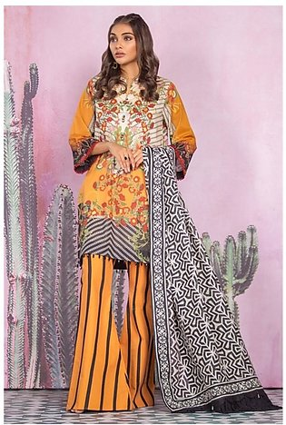 Al Karam Spring Summer Collection 2020 3 Piece (SS-09-20-Orange)