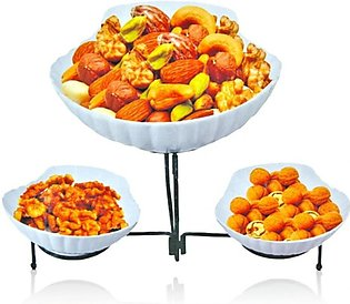 ALHAMRA 3-in-1 Serving Bowl With Iron Stand