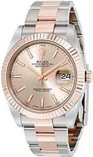 Rolex Datejust 41 Men's Watch Rose Gold (126331SNSO)