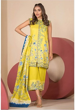 Al Karam Spring Summer Collection 2020 2 Piece (SS-23.1-20-Yellow)