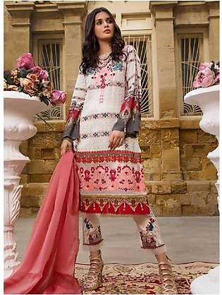 Sifona Marjaan Luxury Embroidered Lawn 2020 3 Piece (MMS-02)