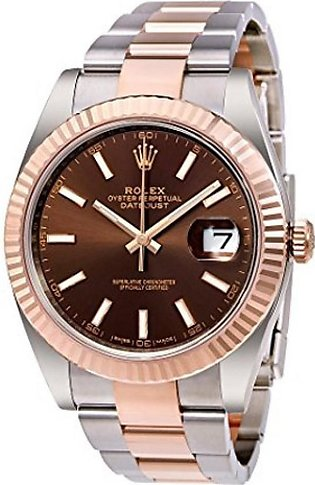 Rolex Datejust 41 Men's Watch Rose Gold (126331CHSO)