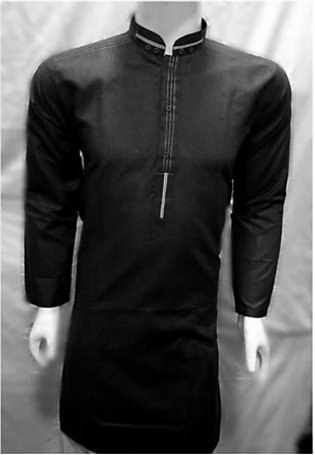 HyperZone Cotton Kurta For Men Black (0019)