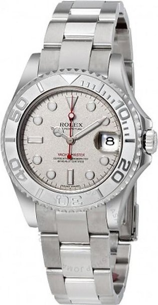 Rolex Yacht-Master Men's Watch Silver (168622PLSO)