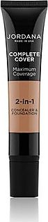 Jordana Complete Cover 2 In 1 Concealer & Foundation - Golden Caramel (09)