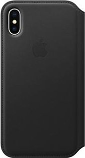Apple Leather Folio Case For iPhone X - Black