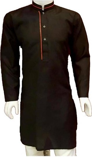 HyperZone Cotton Kurta For Men Black (AFJ1-0047)