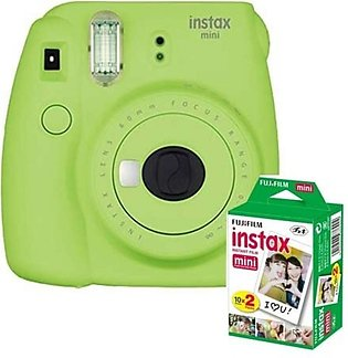 Fujifilm Instax Mini 9 Instant Camera Lime Green - With 20 Sheet