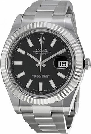 Rolex Datejust II Men's Watch Silver (116334BKSO)