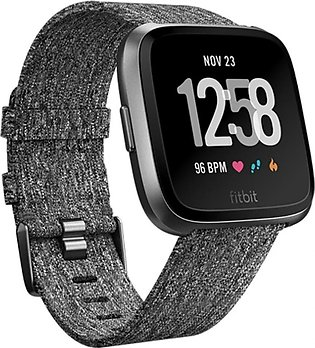 Fitbit Versa Special Edition Smart Watch Charcoal
