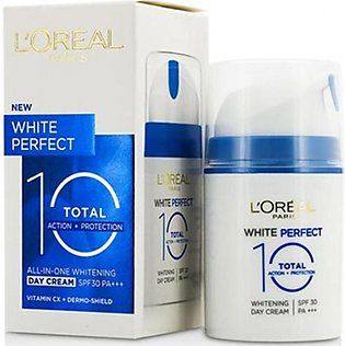 L'oreal Paris White Perfect Total 10 Whitening Day Cream SPF 30 50ml