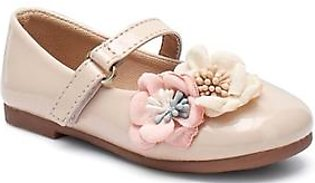 Servis Ndure Floral Shoes For Girl Beige (ND-IF-0013)